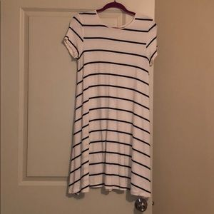 Striped spring shift dress